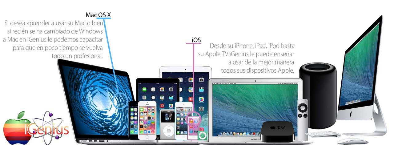 iGenius, lo capacitamos para que le saque mayor provecho a tus productos Apple.