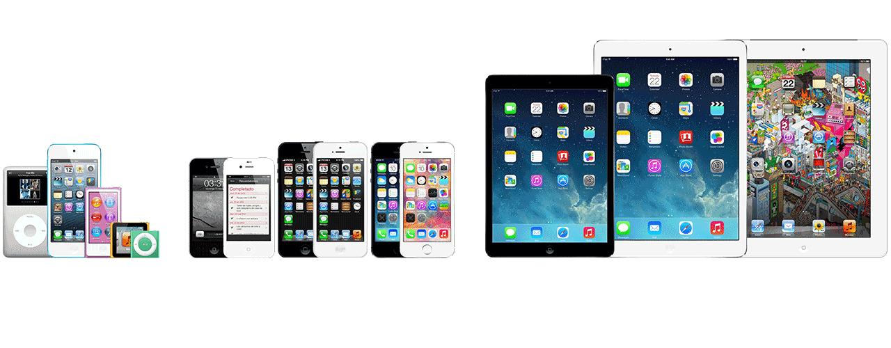 Reparación de todos los productos Apple, iPhone, iPad, iPod y Mac