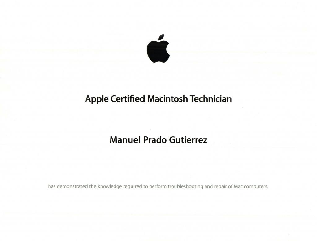 Certificación Apple ACMT