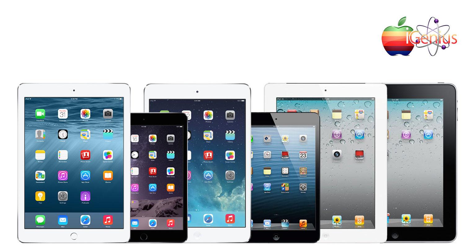 Opciones de servicios para reparación de toda Familia iPad