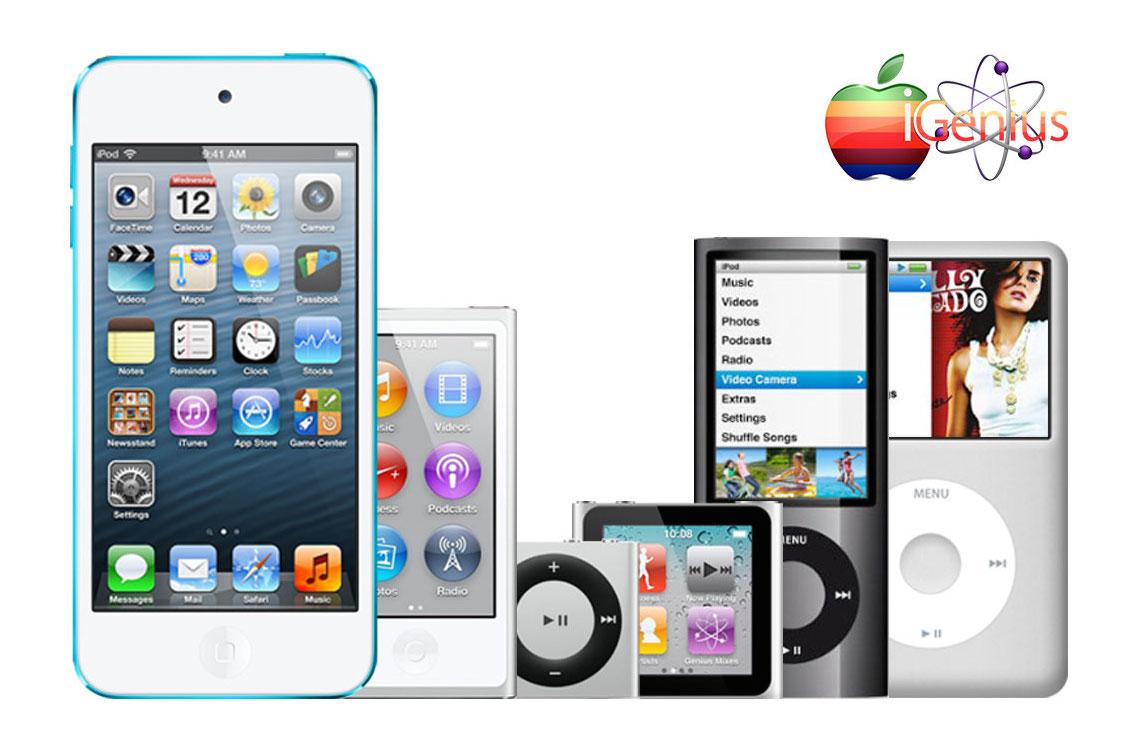 Opciones de servicios para reparación de toda la Familia iPod