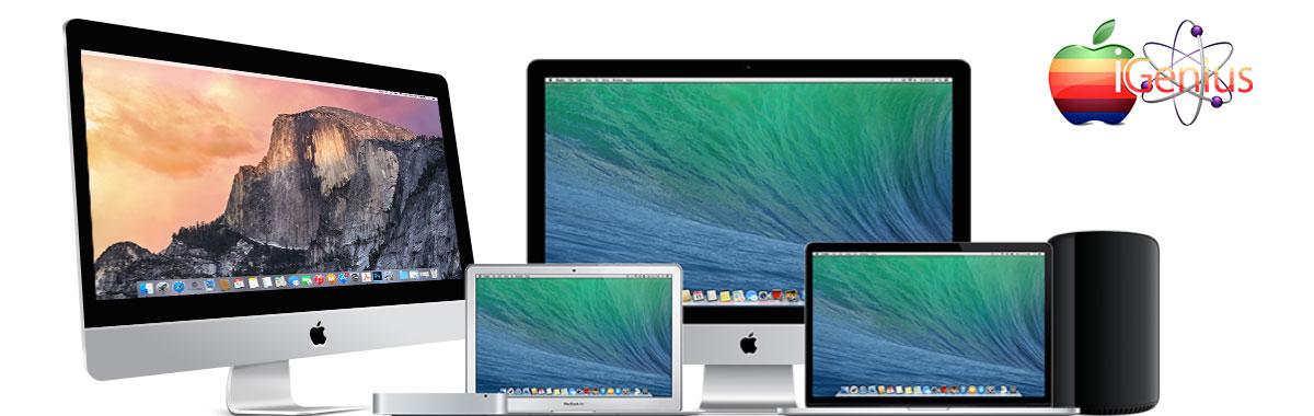 Opciones de servicios para reparación de toda la Familia Mac