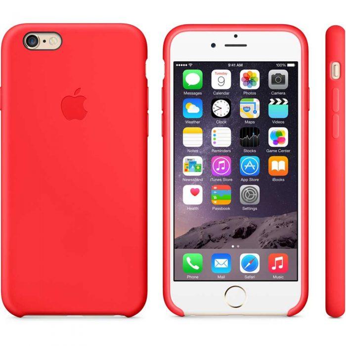 Estuche Silicona iPhone 6 Oro